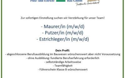 Maurer-in / Putzer-in / Estrichleger-in